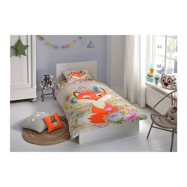 Dětské bavlněné povlečení Muller Textiels Foxy, 140 x 200 cm