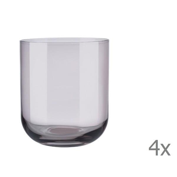 Sada 4 fialových pohárov na vodu Blomus Mira, 350 ml