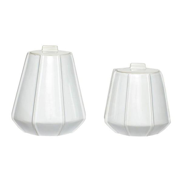 Set 2 recipiente din ceramică Hübsch Auris