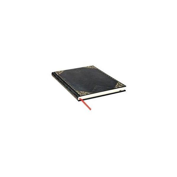 Černý linkovaný zápisník s tvrdou vazbou Paperblanks Midnight Rebel, 144stran