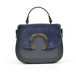 Tmavě modrá kožená kabelka Luisa Vannini Ruttena