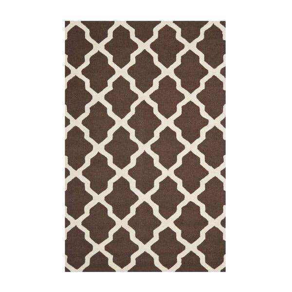 Hnědý vlněný koberec Safavieh Ava 152x243cm