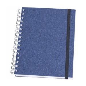 Modrý kroužkový blok Bigso, 90 stran