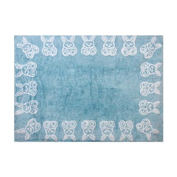 Koberec Conejitos 160x120 cm, modrý
