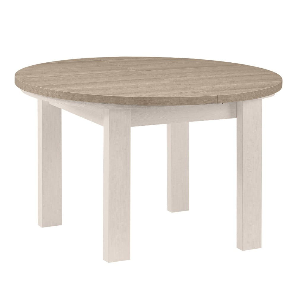 Bílý kulatý jídelní stůl Gami Toscane