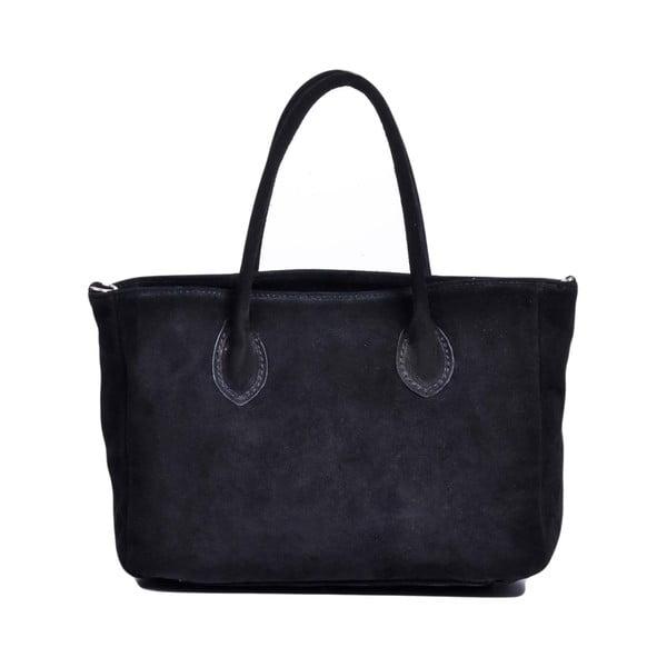 Kožená kabelka Shanna, černá