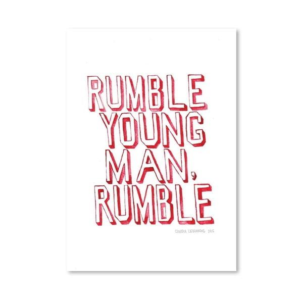 Plakát Rumble, 30x42 cm
