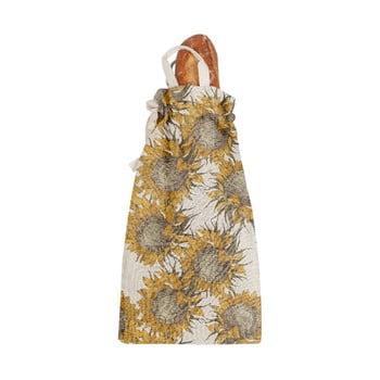 Săculeț textil pentru pâine Linen Couture Bag Sunflower, înălțime 42 cm imagine