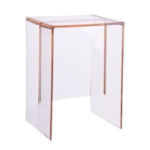 Světle růžový plastový stolek Kartell Max Beam