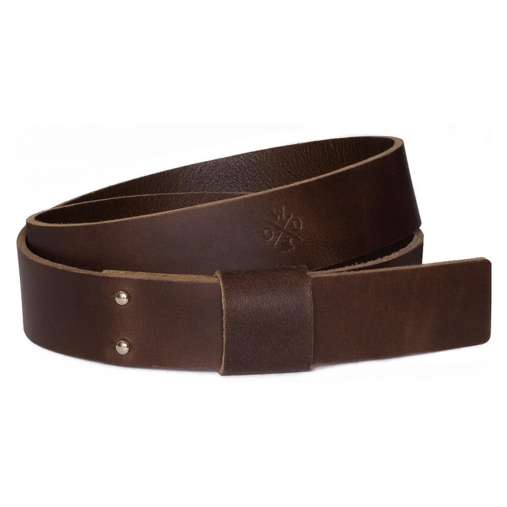 Hnědý pánský kožený pásek Woox Bini Fuscus, délka 115 cm