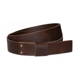 Hnědý pánský kožený pásek Woox Bini Fuscus, vel. L