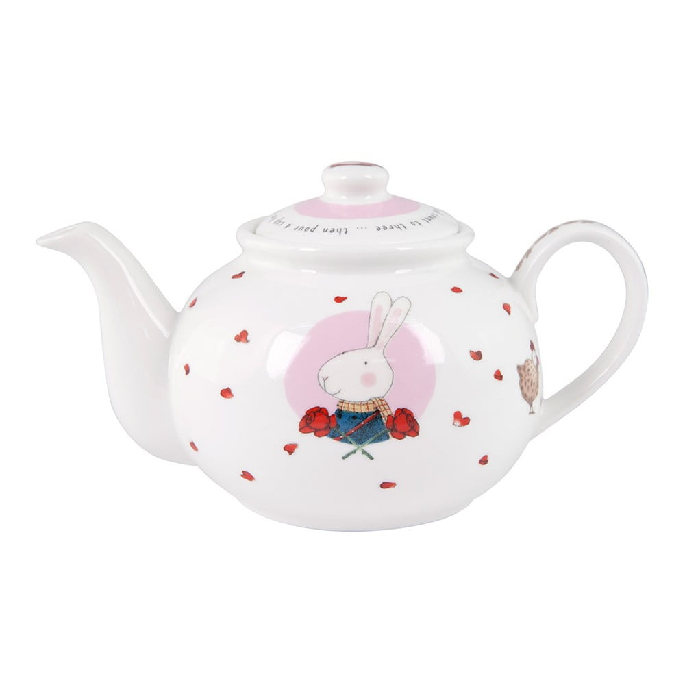 Konvička z kostního porcelánu Ashdene Ruby Red London, 450 ml