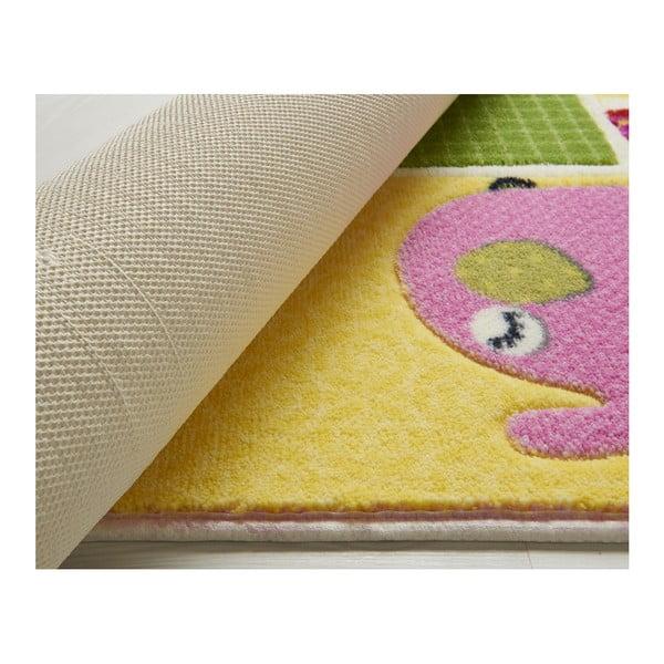 Dětský růžový koberec Confetti Patchwork, 133x190cm