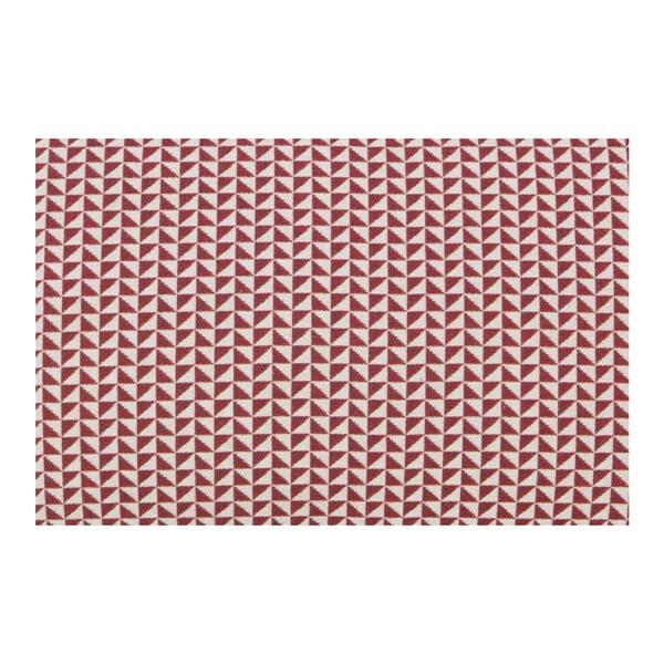 Červený polštář De Eekhoorn Rebel, 60x40cm