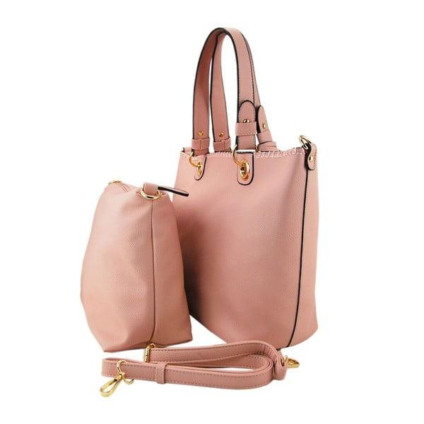 Kožená kabelka Ginny Light Pink