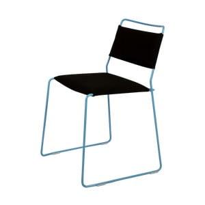 Černá židle s modrou konstrukcí OK Design One Wire