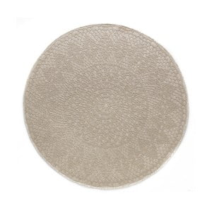 Béžový kulatý koberec Art For Kids Crochet, ⌀ 135 cm