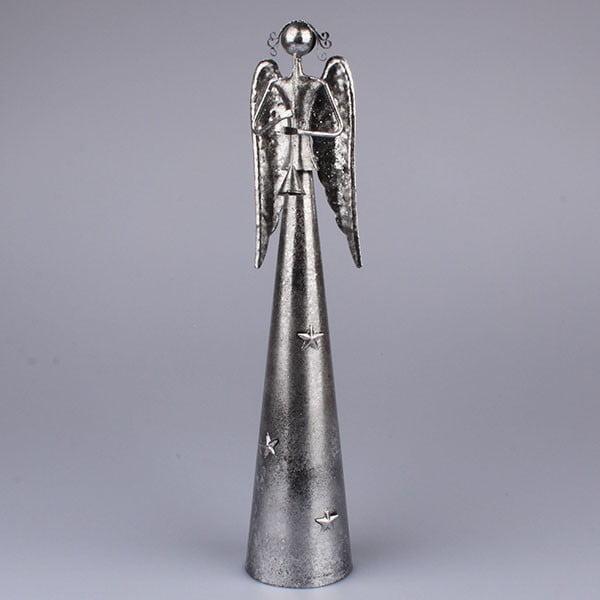 Stříbrný anděl s trumpetou Dakls