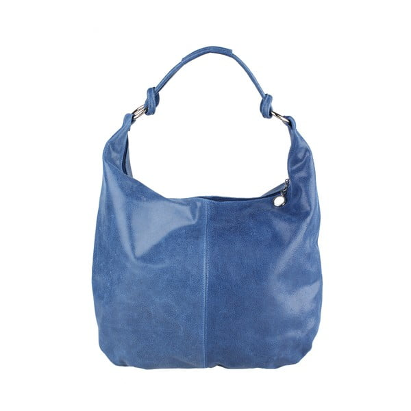 Modrá kožená kabelka Chicca Borse Francisca