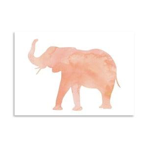 Poster Americanflat Elephant Blush, 30 x 42 cm