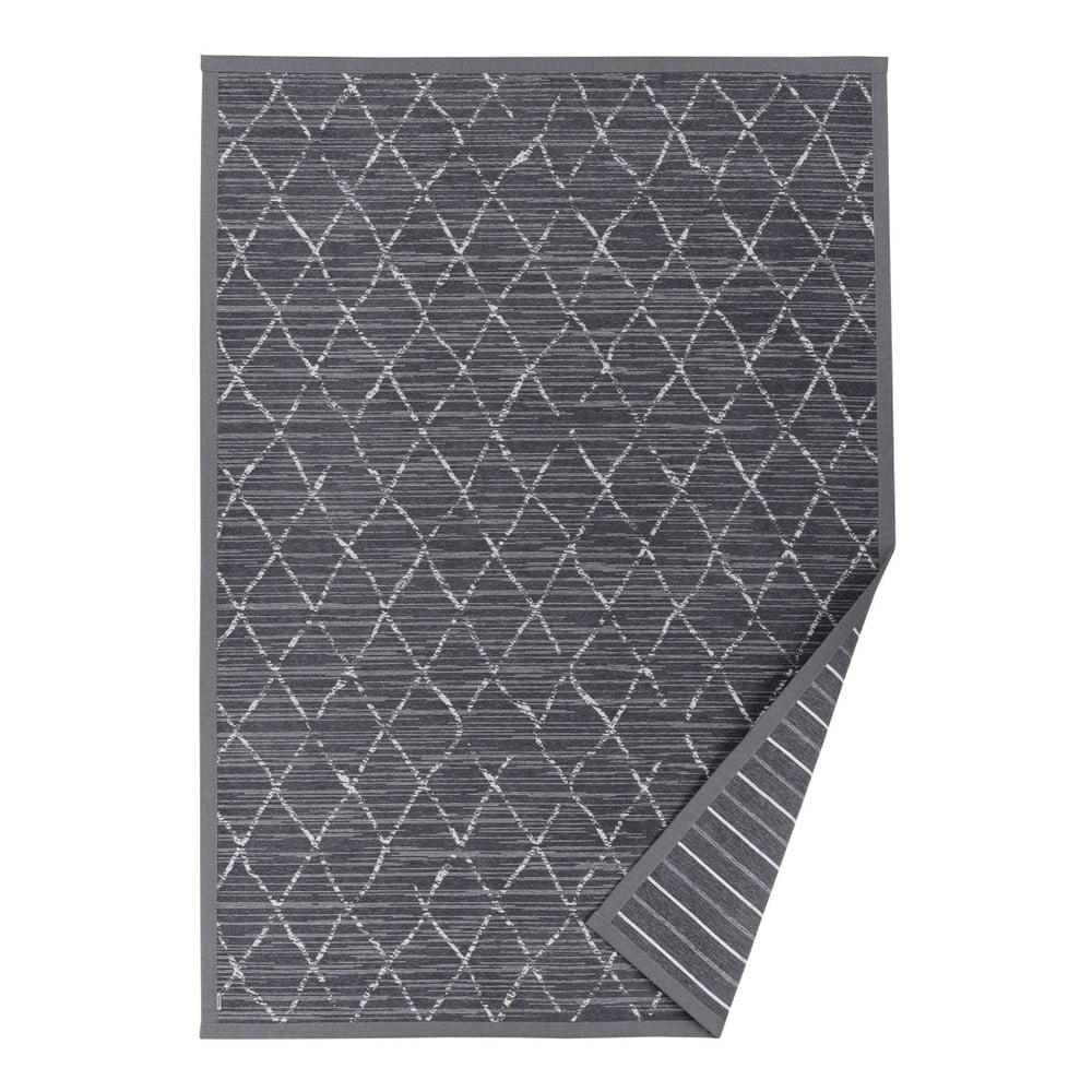Šedý vzorovaný oboustranný koberec Narma Vao, 70 x 140 cm