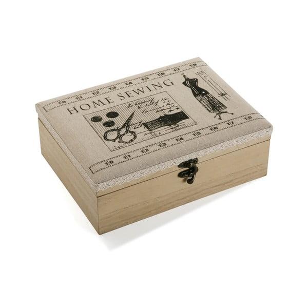 Dřevěný box na šicí potřeby Versa Home