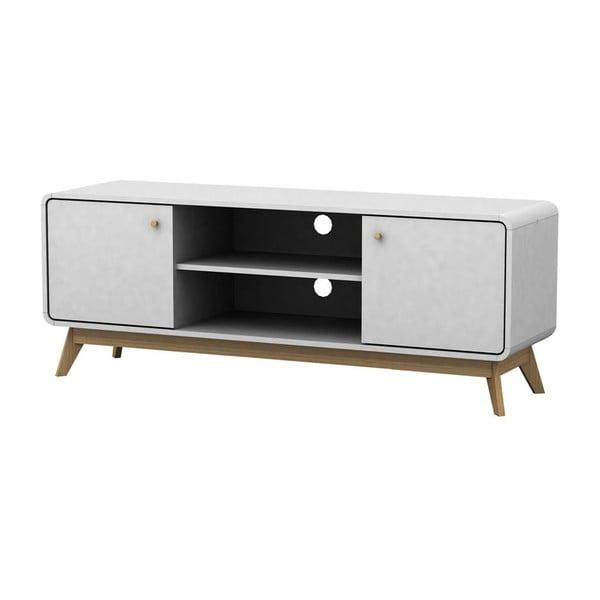 Biely drevený TV stolík Støraa Cleo