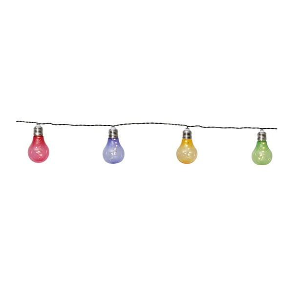Șirag luminos solar LED pentru exterior Best Season Glow, multicolor
