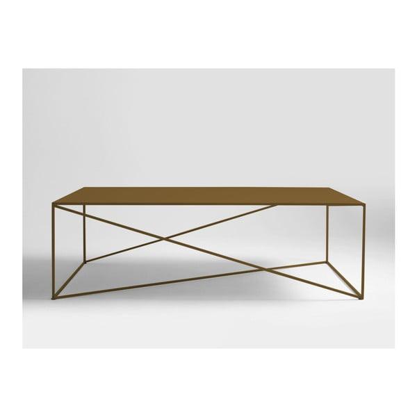 Memo aranyszínű dohányzóasztal, hossza 140 cm - Custom Form