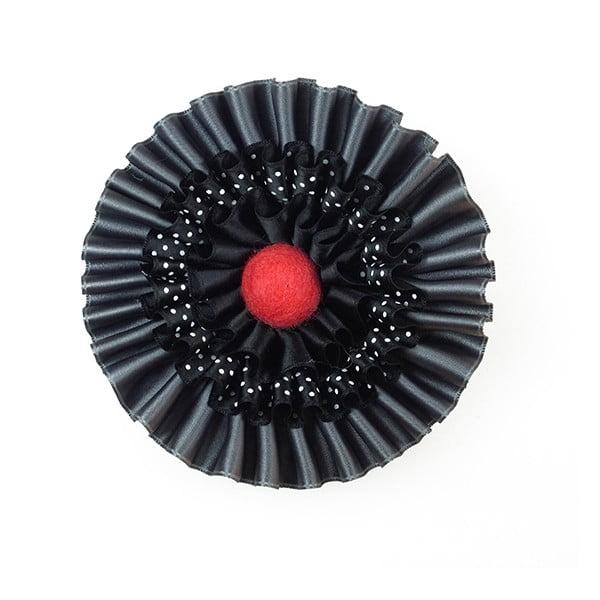 Saténová brož HONNOR M, červená
