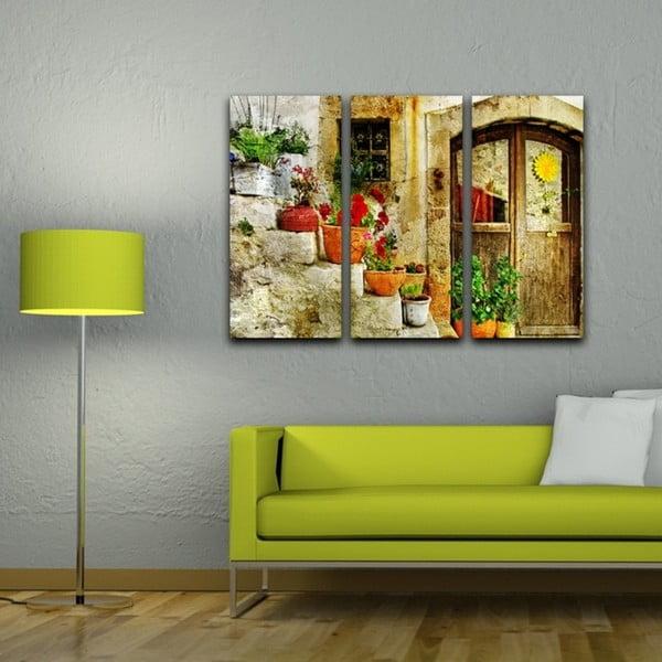 3dílný obraz Květinové schody