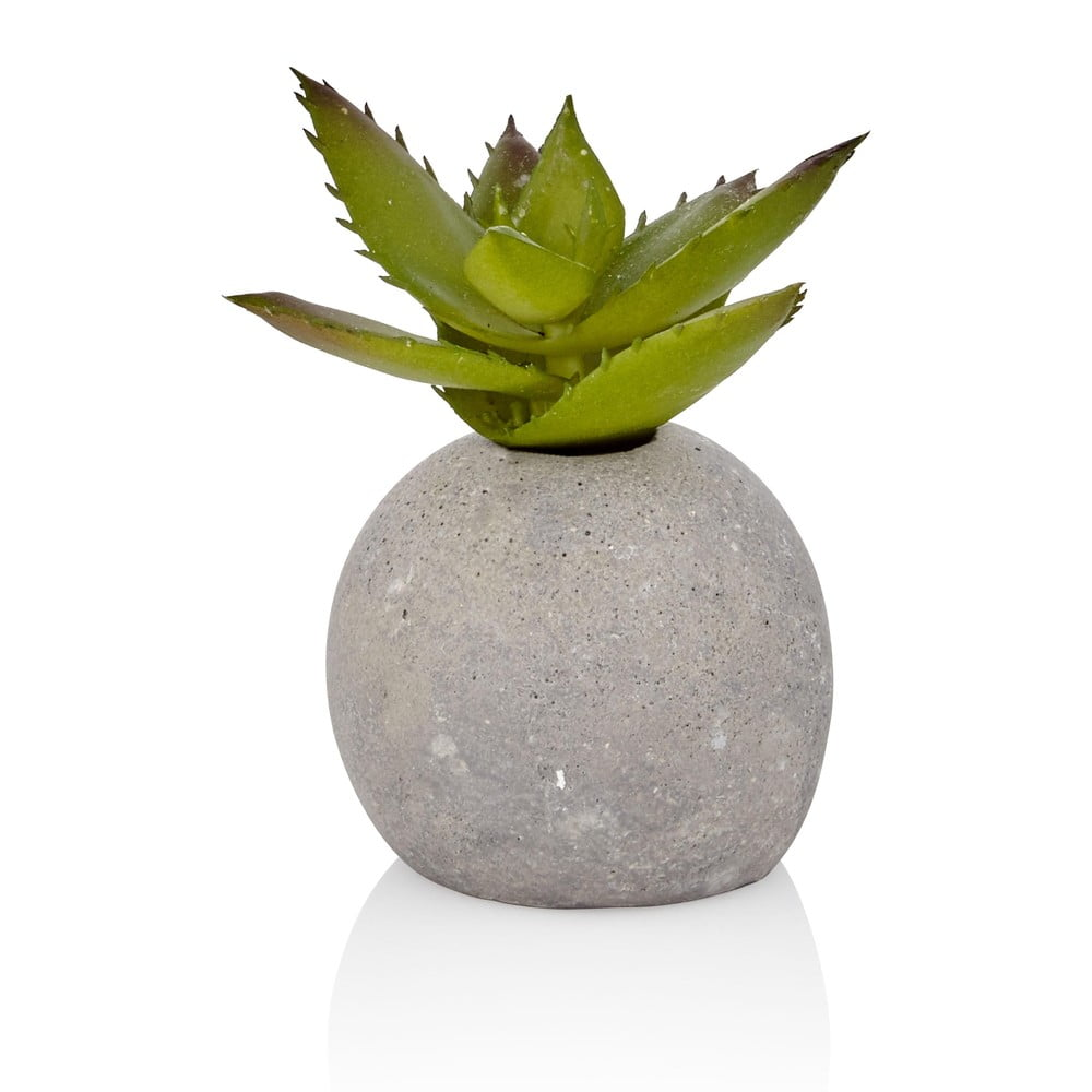 Umělý sukulent v betonovém květináči The Mia Aloe