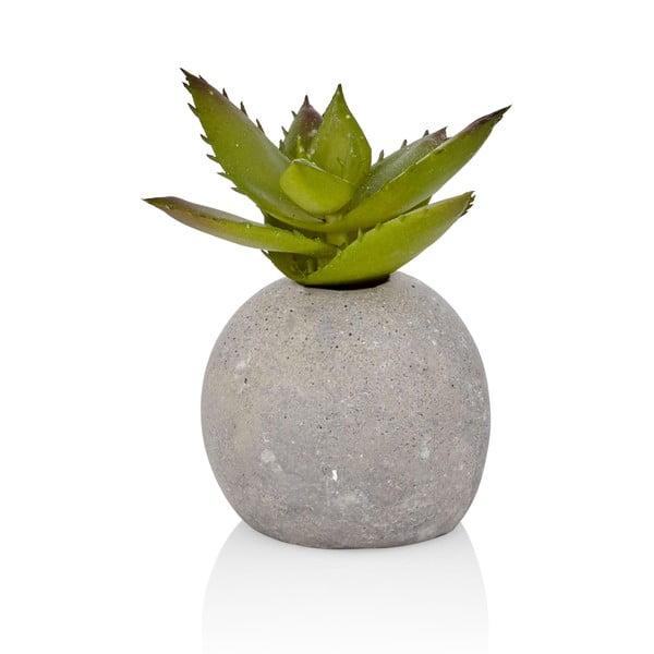 Floare artificială în ghiveci din beton The Mia Aloe