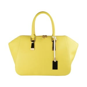 Žlutá kožená kabelka Matilde Costa Palmas