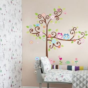 Set autocolante Ambiance Owls On Flowering Tree