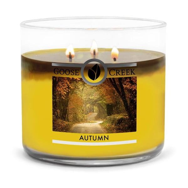 Świeczka zapachowa w szklanym pojemniku Goose Creek Autumn, 35 godz. palenia