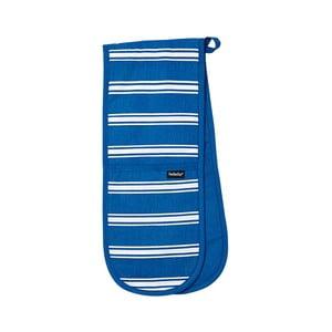 Modrá dvojitá kuchyňská chňapka Ladelle Butcher Stripe