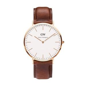 Pánské hodinky s hnědým páskem Daniel Wellington Durham Rose, ⌀40mm