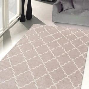 Vysoce odolný kuchyňský koberec Webtappeti Lattice Sand, 130x190 cm