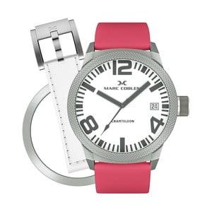 Dámské hodinky Marc Coblen s páskem a kroužkem navíc P77