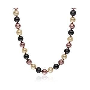 Hnědý perlový náhrdelník Pearls of London Mystic, délka 42cm