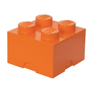Oranžová úložná kostka LEGO®