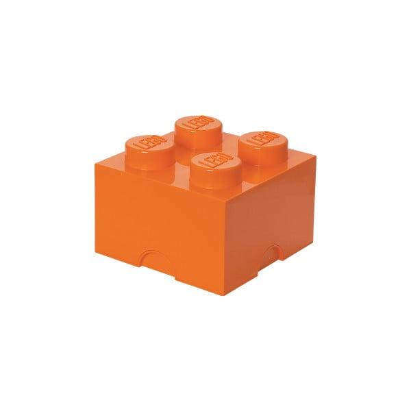 Oranžový úložný box čtverec LEGO®