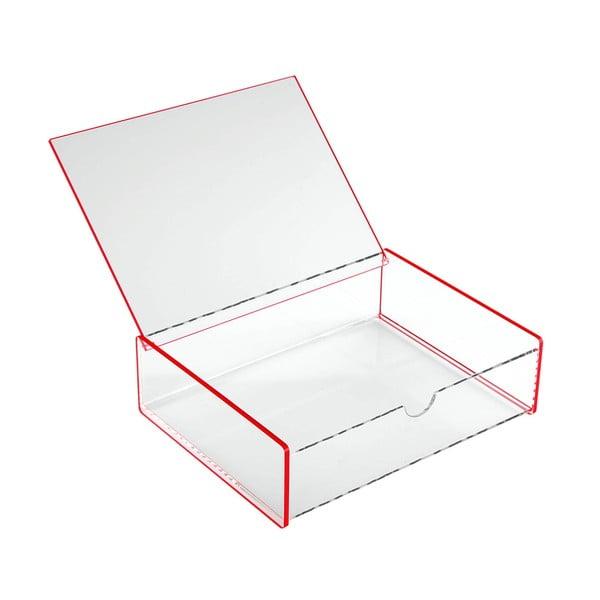 Růžový úložný box Versa Ariel, 17,1x13x4,8cm
