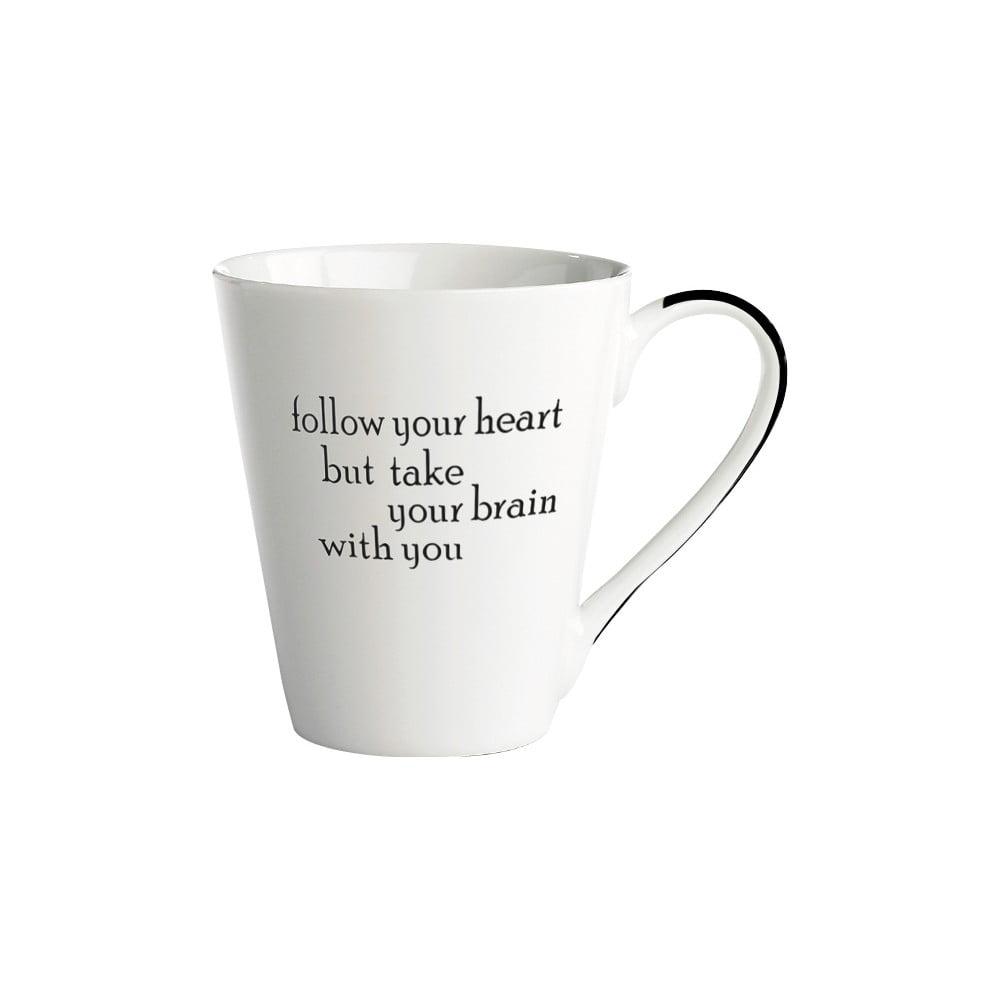 Porcelánový hrnek KJ Collection Follow Your Heart, 300 ml