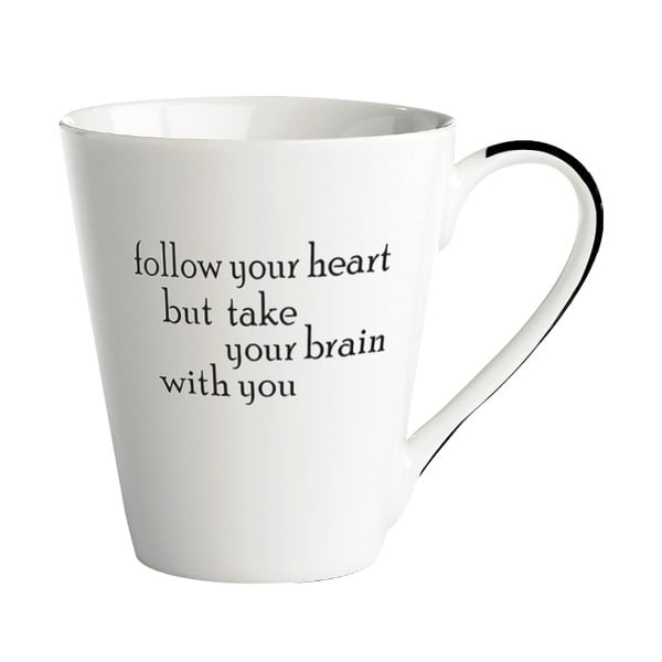 Porcelánový hrnek KJ Collection Follow Your Heart, 300 ml