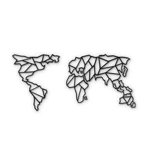 Decorațiune din metal pentru perete Map Of The World Clear, 85 x 170 cm