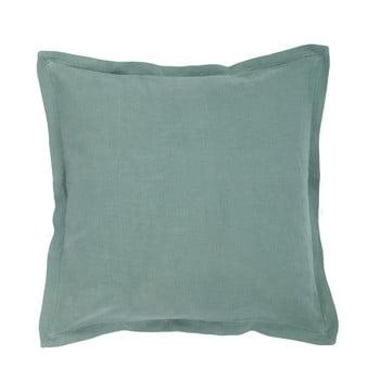 Pernă din amestec de in Tiseco Home Studio, 45 x 45 cm, verde