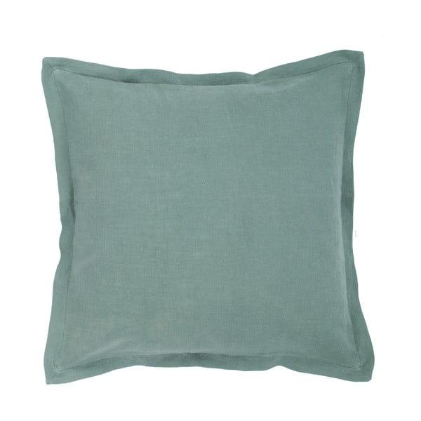 Zelený vankúš s prímesou ľanu Tiseco Home Studio, 45 × 45 cm