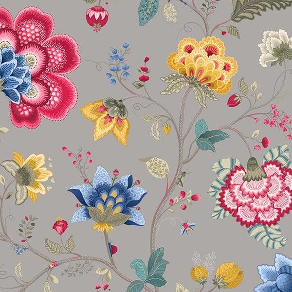 Tapeta Pip Studio Floral Fantasy, 0,52x10 m, světle šedá